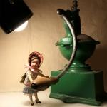 Amelie мелет кофе:))) Немецкая кукла Арманд Марсель 15/0  Рост куклы 14,5см.